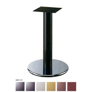 テーブル脚 ラウンドS7360 ベース360φ パイプ60.5φ 受座240x240 ステンレス/塗装パイプ AJ付 高さ700mmまで