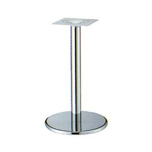 テーブル脚 ラウンドS7450 ベース450φ パイプ76.3φ 受座240x240 クロームメッキ AJ付 高さ700mmまで
