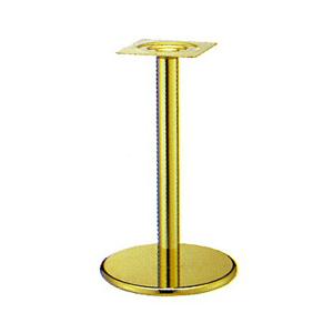 テーブル脚 ラウンドS7450 ベース450φ パイプ101.6φ 受座240x240 ゴールドメッキ AJ付 高さ700mmまで