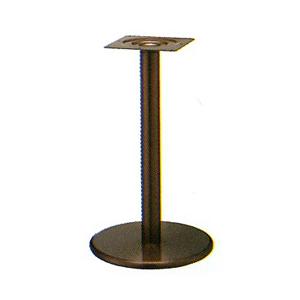 テーブル脚 ラウンドS7360 ベース360φ パイプ60.5φ 受座240x240 ジービーメッキ AJ付 高さ700mmまで