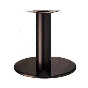 テーブル脚 ラウンドS7500 ベース500φ パイプ139φ 受座240x240 ジービーメッキ AJ付 高さ700mmまで