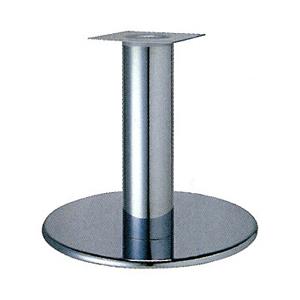 テーブル脚 ラウンドS7500 ベース500φ パイプ101.6φ 受座240x240 クロームメッキ AJ付 高さ700mmまで