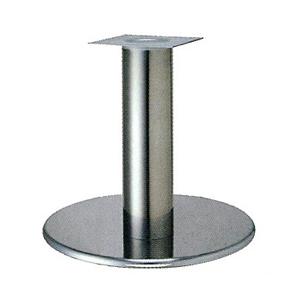 テーブル脚 ラウンドS7600 ベース600φ パイプ101.6φ 受座240x240 クロームメッキ AJ付 高さ700mmまで