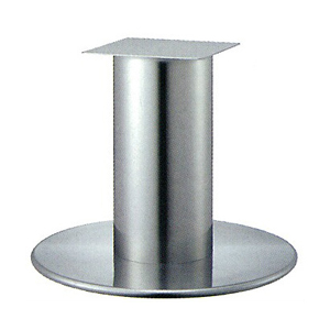 テーブル脚 ラウンドS7750 ベース750φ パイプ210φ 受座350x350 ステンレス AJ付 高さ700mmまで