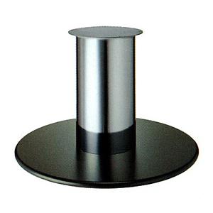 テーブル脚 ラウンドS7850 ベース850φ パイプ280φ 受座340φ 黒紛体塗装/クロームメッキパイプ AJ付 高さ700mmまで