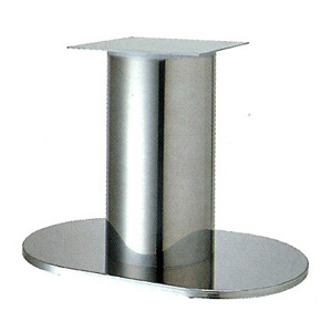 テーブル脚 ロマンS7750 ベース750x450 パイプ210φ 受座350x350 ステンレス AJ付 高さ700mmまで