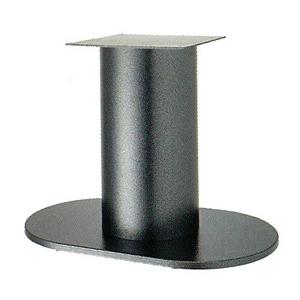 テーブル脚 ロマンS7750 ベース750x450 パイプ210φ 受座350x350 Aシルバー紛体塗装 AJ付 高さ700mmまで