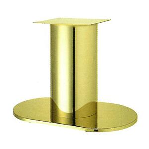 テーブル脚 ロマンS7750 ベース750x450 パイプ210φ 受座350x350 ゴールドメッキ AJ付 高さ700mmまで