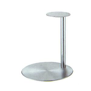 テーブル脚 ライトS7440 ベース440φ パイプ42.7φ 受座280φ ステンレス/クロームパイプ 高さ700mmまで