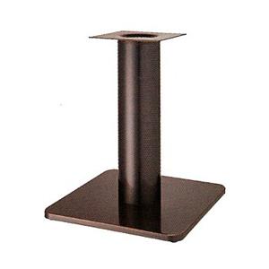 テーブル脚 スカイS7460 ベース460x460 パイプ101.6φ 受座240x240 ジービーメッキ AJ付 高さ700mmまで