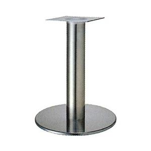 テーブル脚 ソフトS7360 ベース360φ パイプ60.5φ 受座240x240 ステンレス AJ付 高さ700mmまで