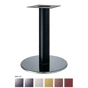 テーブル脚 ソフトS7440 ベース440φ パイプ101.6φ 受座240x240 ステンレス/塗装パイプ AJ付 高さ700mmまで
