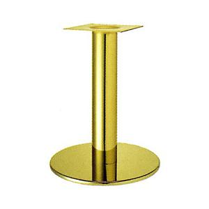 テーブル脚 ソフトS7390 ベース390φ パイプ76.3φ 受座240x240 ゴールドメッキ AJ付 高さ700mmまで