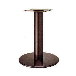 テーブル脚 ソフトS7390 ベース390φ パイプ76.3φ 受座240x240 ジービーメッキ AJ付 高さ700mmまで