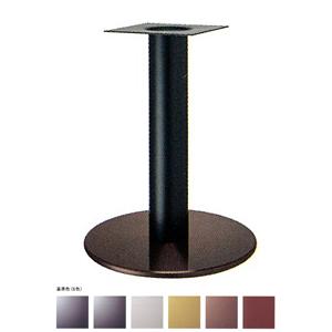 テーブル脚 ソフトS7440 ベース440φ パイプ101.6φ 受座240x240 ジービー/塗装パイプ AJ付 高さ700mmまで