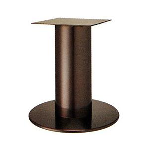 テーブル脚 ソフトS7520 ベース520φ パイプ101.6φ 受座240x240 ジービーメッキ AJ付 高さ700mmまで