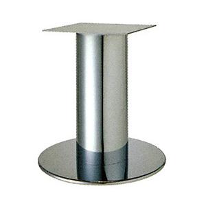 テーブル脚 ソフトS7520 ベース520φ パイプ101.6φ 受座240x240 ステンレス AJ付 高さ700mmまで