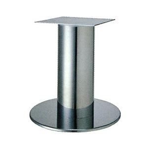 テーブル脚 ソフトS7520 ベース520φ パイプ101.6φ 受座240x240 クロームメッキ AJ付 高さ700mmまで