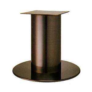 テーブル脚 ソフトS7570 ベース570φ パイプ101.6φ 受座240x240 ジービーメッキ AJ付 高さ700mmまで