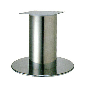 テーブル脚 ソフトS7570 ベース570φ パイプ101.6φ 受座240x240 ステンレス AJ付 高さ700mmまで