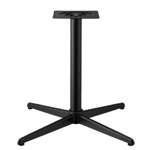 テーブル脚 コルサS2600 ベース430x430 パイプ60.5φ 受座240x240 黒紛体塗装 AJ付 高さ700mmまで