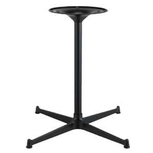 テーブル脚 SB2550 ベース400x400 パイプ38.1φ 受座280φ アルミ黒紛体塗装 AJ付 高さ700mmまで