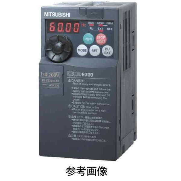 三菱電機 FR-E720-0.4K インバータ FREQOL-E700シリーズ 三相200V