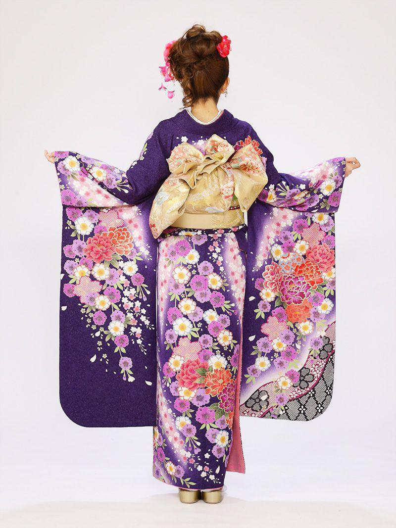 紫ラメ織地】【結婚式】【成人式】【結納】【