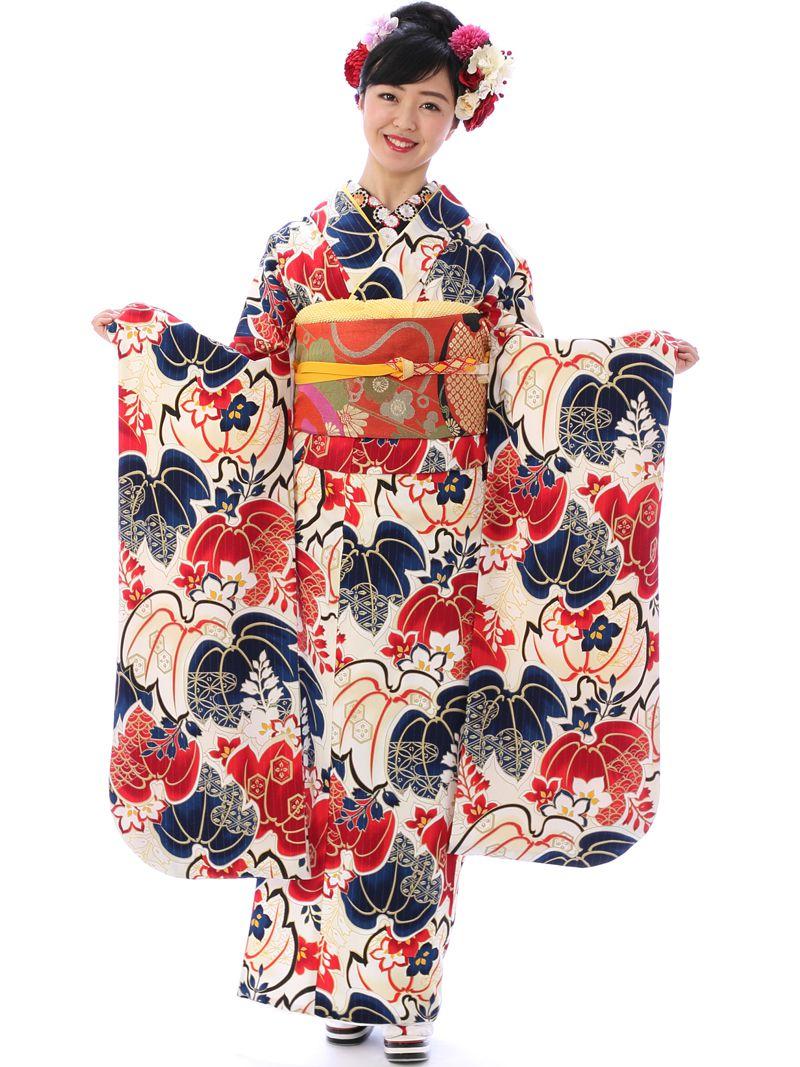 【レンタル】 振袖 (2月~12月) 結婚式 成人式 卒業式 着物 貸衣装 振り袖 往復送料無料 | レトロ モダン 振袖レンタル セット 和装 小物 帯 着物レンタル 足袋 草履 帯締め レンタル着物 きもの 長襦袢 肌着 和服 kimono レディース キモノ 着付け小物セット [0s0161-1]