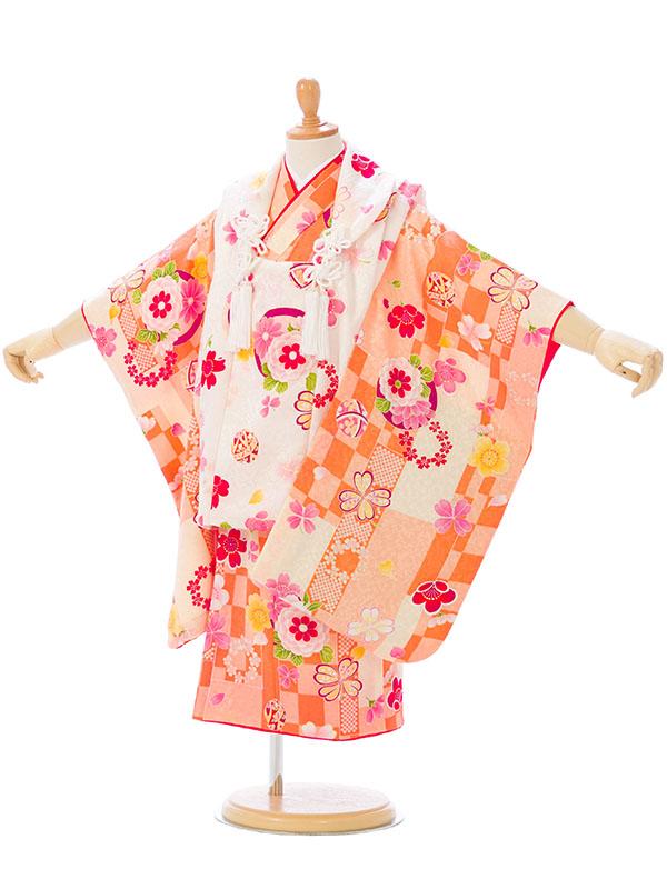 【レンタル】 七五三 3歳 着物 被布 貸衣装 往復送料無料 髪飾り 式部浪漫 正絹 | レトロ フルセット モダン 七五三着物 女の子 三歳 被布セット 753 セット 衣装 和装 小物 着物レンタル 子供 着付け 草履 レンタル着物 きもの 和服 kimono 小物セット 3才 キモノ [SH-010]