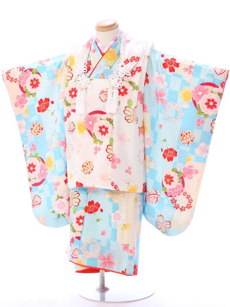 【レンタル】 七五三 3歳 着物 被布 貸衣装 往復送料無料 髪飾り 式部浪漫 正絹 | レトロ フルセット モダン 七五三着物 女の子 三歳 被布セット 753 セット 衣装 和装 小物 着物レンタル 子供 着付け 草履 レンタル着物 きもの 和服 kimono 小物セット 3才 キモノ [SH-011]