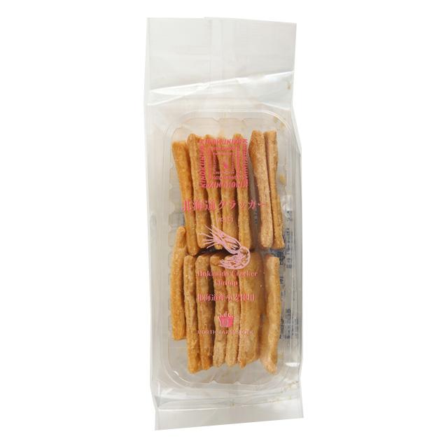 全品送料無料 北海道産小麦使用のおつまみクラッカーです エビの香りが広がり白ワインとの相性も抜群です 紀ノ国屋 エビ 安値 14枚 北海道クラッカー
