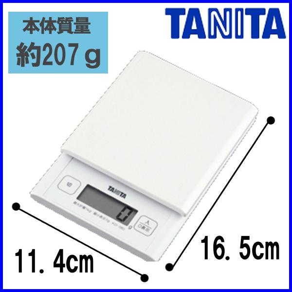 附带TANITA数码烹调规模KD-180秤百利达厨房规模白测量计量容量秤吊钩的◆2