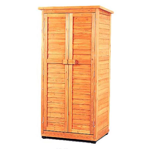 【送料無料】《幅約90.5×奥行約72×高さ約187》木製物置トレー付 WSR-1809T ブラウン[倉庫/物置/物置き/収納庫/ロッカー/物置 屋外]