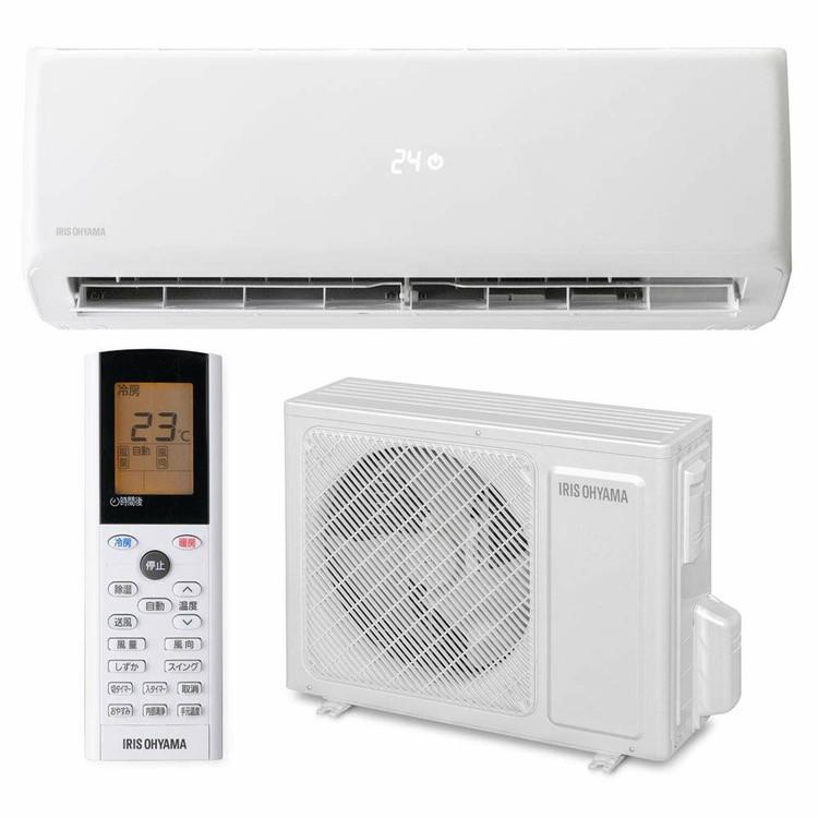 ルームエアコン2.2kW(スタンダード) IRR-2219G送料無料 エアコン 暖房 冷房 エコ アイリス クーラー リビング ダイニング 子ども部屋 空調 除湿 タイマー付 内部クリーン機能 アイリスオーヤマ