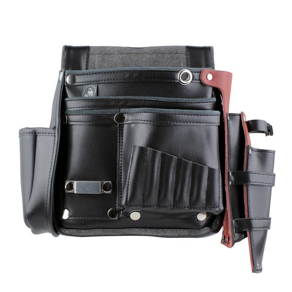 【送料無料】ふくろ倶楽部 究極 四型 HB-094K 黒 [工具袋 工具入れ 腰袋 工具差し 釘袋]【TC】【FS】