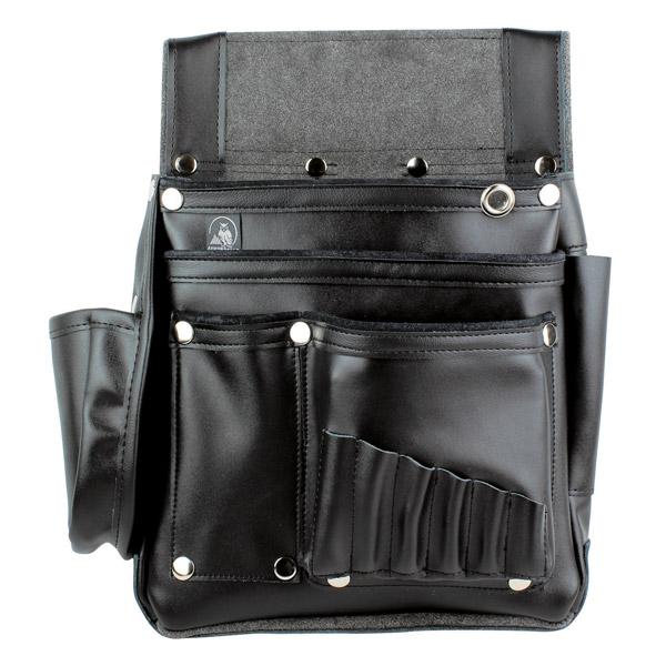 【送料無料】ふくろ倶楽部 伝説 六型 HB-036K 黒 [工具袋 工具入れ 腰袋 工具差し 釘袋]【TC】【FS】