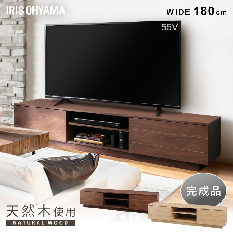 ボックステレビ台 アッパータイプ BTS-SD180U-WN ウォールナット送料無料 テレビボード TV台 棚 ローボード AVボード 完成品 おしゃれ アイリスオーヤマ