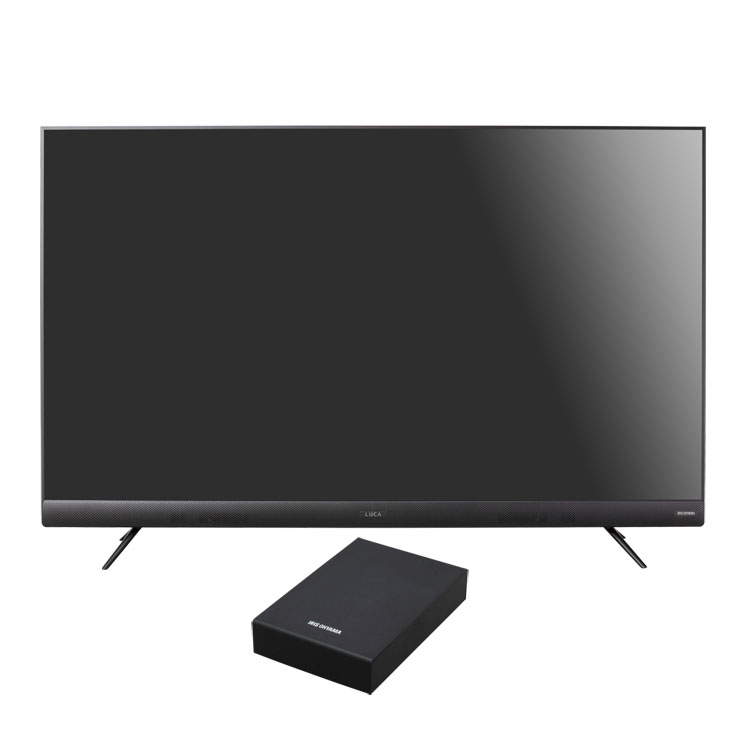 テレビ HDD セット TV 4K 音声操作 55型 外付け ハードディスク アイリスオーヤマ 4Kテレビ 55型 音声操作 外付けHDDセット品送料無料 テレビ HDD セット TV 4K 音声操作 55型 外付け ハードディスク アイリスオーヤマ