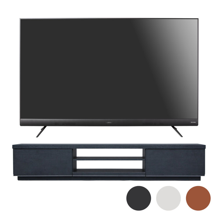 4Kテレビ 55型 音声操作 テレビ台BAB150送料無料 テレビ テレビ台 セット TV 4K 音声操作 55型 黒 引き出し アイリスオーヤマ