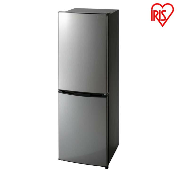 冷蔵庫 162L アイリスオーヤマ ノンフロン冷凍冷蔵庫 ブラックシルバー KRSE-16A-BS送料無料 ノンフロン冷凍冷蔵庫 162L ノンフロン冷凍冷蔵庫 2ドア 162リットル 冷蔵庫 れいぞうこ 冷凍庫 れいとうこ 料理 調理 家電 食糧 冷蔵 保存