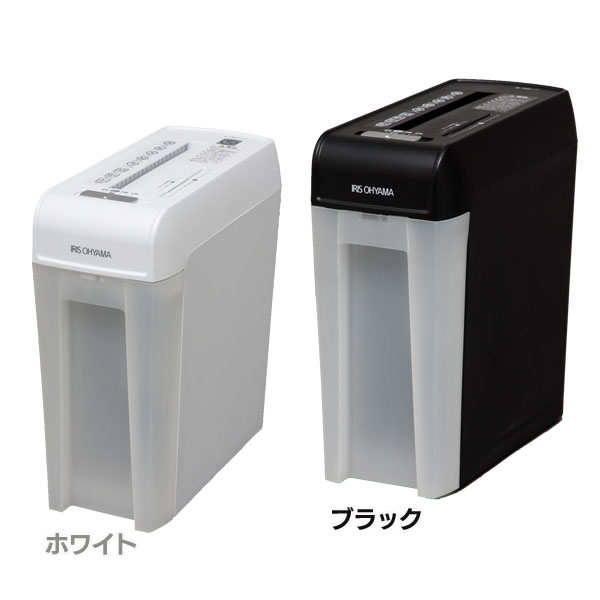 【送料無料】細密シュレッダー P6HMCS ホワイト・ブラック アイリスオーヤマ