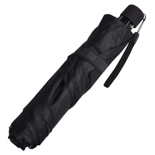 コウモスリム三つ折傘 無地 大特価 黒52cm 驚きの値段 TC