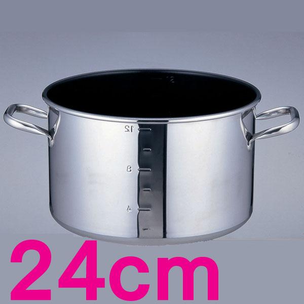 【送料無料】パワー・デンジα 目盛付半寸胴鍋 AHV9302 24cm【en】【TC】