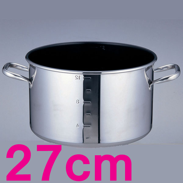 【送料無料】パワー・デンジα 目盛付半寸胴鍋 AHV9303 27cm【en】【TC】