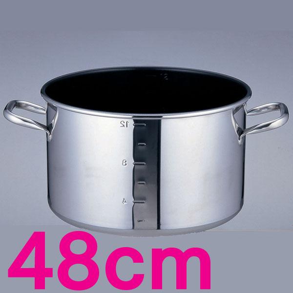 【送料無料】パワー・デンジα 目盛付半寸胴鍋 AHV9310 48cm【en】【TC】
