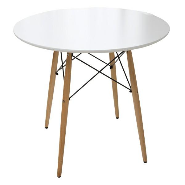 丸型ダイニングテーブル DT-02B 送料無料 テーブル ダイニングテーブル ダイニング 丸テーブル 北欧 木脚 円形 ホワイト【D】【O】