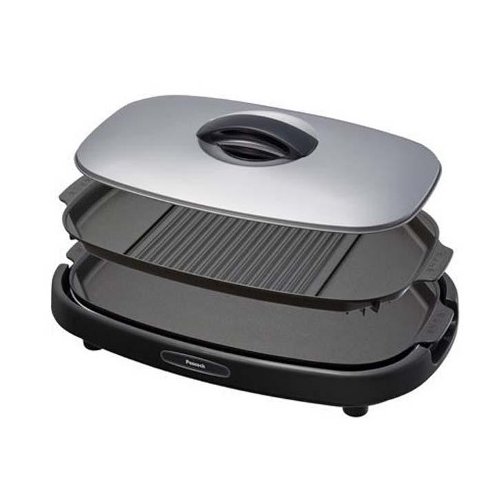 ホットプレート 2枚組 WCV-13A 送料無料 ホットプレート おしゃれ 鍋 2枚 プレート 卓上調理 焼肉 大型ホットプレート 焼肉ホットプレート ピーコック【TC】