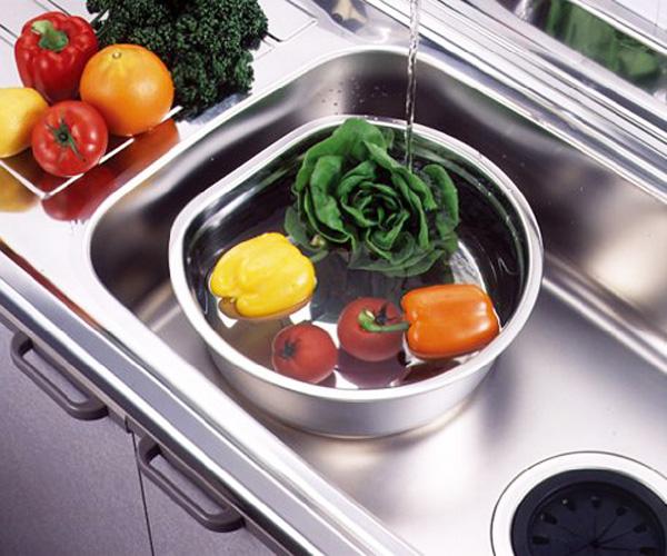 貝印  D型洗い桶(脚高ゴム付) DZ1141 桶 洗い桶 食器洗い D型 おけ 調理器具 食洗 【D】
