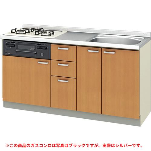 メーカー直送 リクシル 取り替えキッチン パッとりくん GKシリーズ フロアユニット [GK*-U-160XNBD**] 間口160cm ラウンド56シンク 受注生産品